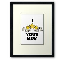 Clash of Clans - I Three Starred Your Mom - Gold Edition Framed Print