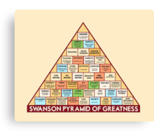 ron swansons pyramid of greatness Canvas Print