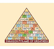 ron swansons pyramid of greatness Photographic Print