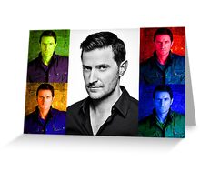 Richard Armitage Pop-Art Collage Greeting Card