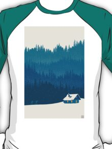 nordic ski winter wonderland scene T-Shirt