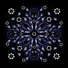 blue vintage pattern by VioDeSign