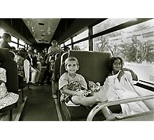 Koori kids on the way to the local pool Photographic Print