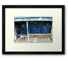 Arden street,North Melbourne, Football Ground-REEFER  STAND Framed Print