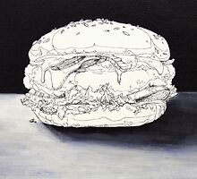 burger still painitng by Jamie-Jeong
