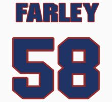 National football player Dale Farley jersey 58 by imsport