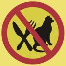 DO NOT EAT CATS ROAD SIGN by SofiaYoushi