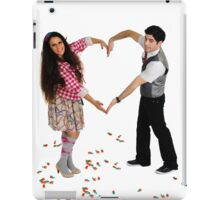 Young couple forms a heart shape with their arms  iPad Case/Skin