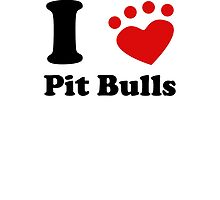 I Heart Pit Bulls by kwg2200