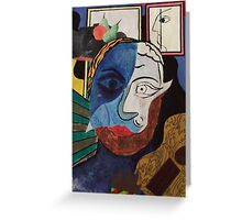 Picasso Inspired Greeting Card