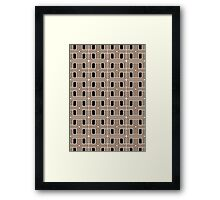 Retro Geo Element Wallpaper Framed Print