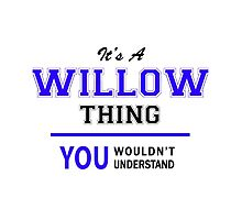 It's a WILLOW thing, you wouldn't understand !! by allnames