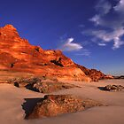 Red on blue at Cape Leveque by Chris Allen