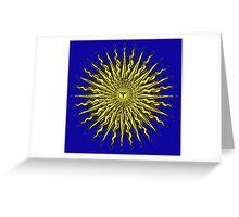 MEGA SUN TESLA Greeting Card
