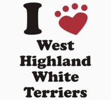 I Heart West Highland White Terriers T-Shirt