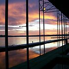 lake sunrise by JILLIAN  POSSEHL