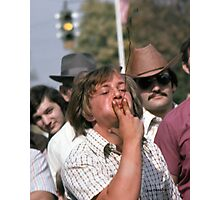 Tobacco Spitting Contest Photographic Print