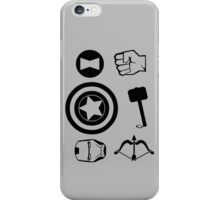 The Avengers all Symbols Nerdy Must Have iPhone Case/Skin