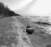 Frozen Waves B&W by velveteagle