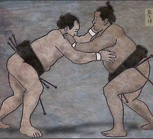Sumo Wrestlers by Mike Connor