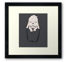 Akamaru in your Pocket! - Naruto Framed Print