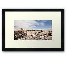 Israel Jerusalem Wailing Wall  Framed Print