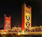 Tower Bridge over the Sacramento River, Sacramento, California by Lenny La Rue, IPA