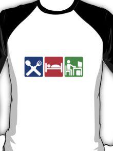 EAT SLEEP COMPUTER HACK T-Shirt