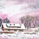 Cottage In The Black Forest In Germany Pink by Goodaboom