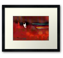 Subconscious: Scarlet Cocoon Framed Print
