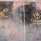 pompeii fresco with bird by kristana