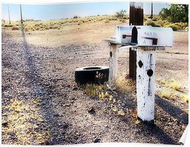 mailboxes, route 66, amboy, california by brian gregory