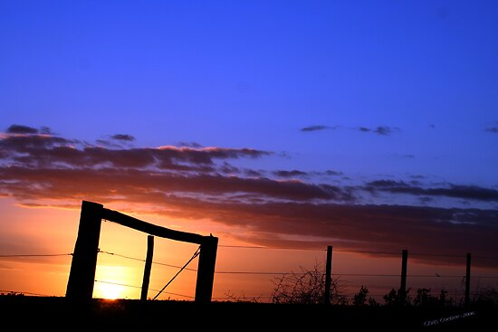 Caged Sunset by Chris Coetzee