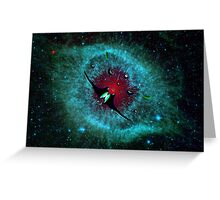 Venetian Interstellar Cruiser with Escorts at the Helix Nebula - all products Greeting Card
