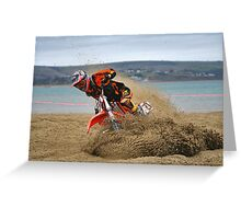 Weymouth Beach Race MotoX 1 Greeting Card