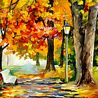 Original oil printing by L.Afremov FORGOTTEN DATE by leonid afremov