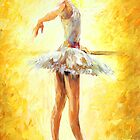 Original oil printing by L.Afremov IN THE BALLET CLASS by leonid afremov