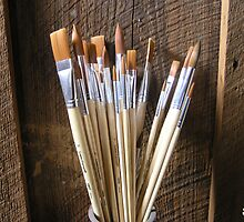 Painter's Brushes by Jeri Dettenheim