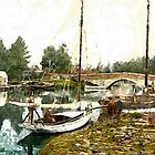 The Bridge, Wroxham, England 19th century - all products bar duvet by Dennis Melling