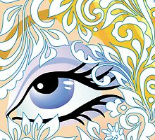 floral blue eye by VioDeSign
