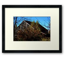 0126 - HDR Panorama - Old Barn 1 Framed Print