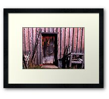 0130 - HDR Panorama - Old Farmhouse 2 Framed Print