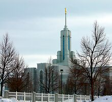 Mt. Timpanogos LDS Temple-Winter by Ryan Houston