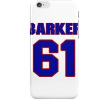 National football player Will Barker jersey 61 iPhone Case/Skin