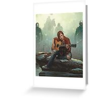 Ellie Playing the Guitar - TLOU Greeting Card