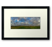 FOOTBALL FIELD - PANORAMA Framed Print