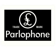 British Invasion - Parlophone Records (White) Art Print