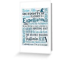Harry Potter Addicted - Quotes Greeting Card