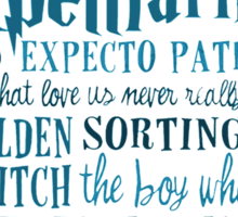 Harry Potter Addicted - Quotes Sticker