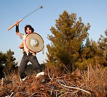 A wild Barbarian Attack with a Flail.  by PhotoStock-Isra